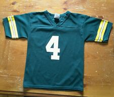 Logo 7 childs Large size 7 Green Bay Packers Brett Favre #4 jersey Football Game