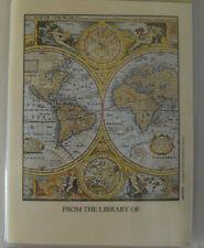 Antioch Mini Bookplates 9 Self-stick Library Book Labels World Maps Dragon 1997