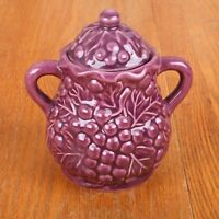 Purple Grapes Lidded Sugar Bowl