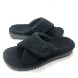 Vionic Womens Indulge Relax Black Mule Slippers Size 9 (1616289)