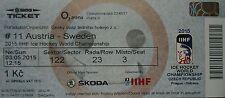 mint TICKET Eishockey WM 3.5.2015 Österreich - Schweden in Prag