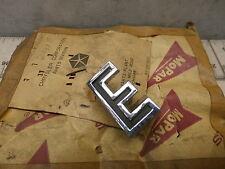 1902705 Nameplate Trim Letter E, OEM NOS Mopar Chrysler, 50's ?, Free US Ship ~