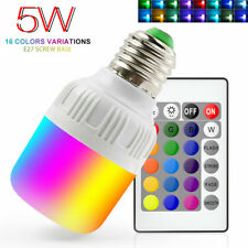 5W Rgb Led Bulb Light E26/E27 16 Color Changing Magic Lamp+ Ir Remote Control Us