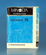 Minolta Dynax 5 Bedienungsanleitung german manual - (100080)
