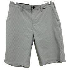 Hurley Phantom Men's Pinstripe Walkshorts Gray Size 30