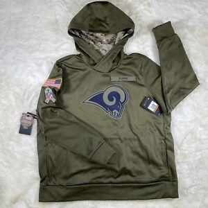 NIKE WOMEN'S NFL LOS ANGELES RAMS SALUTE PULL-OVER HOODIE AA9951-395 SIZE XXL