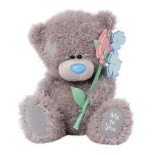 ME TO YOU BEAR//TATTY TEDDY 6X4 WITH LOVE ACRYLIC FLOWERS FRAME