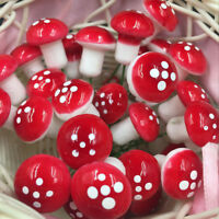 30x Resin Mushroom Toadstool Garden Ornaments Gnomes Potted Plants Decoration a!