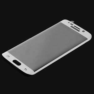 WHITE Full Curved Tempered Glass Screen Protector Samsung Galaxy Plus S6 S7 Edge