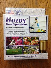 Jack's Classic Hozon Brass Siphon Mixer with Backflow Preventer