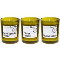Set of 3 Mini White Wine Scented candles In Gift Box Pinot Grigo Sauvignon Blanc
