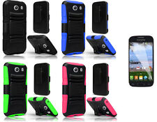 LCD Guard + Holster + Hybrid Cover Case for Samsung Galaxy Ace Style S765C Phone