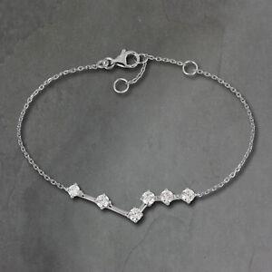 Silberdream 18,5 -21,5cm Bracelet Femme Blanc Paillettes Zircon Argent SDA5308W