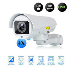 POE HD 1080p 4X Optical Zoom Network IP Camera PTZ IR Night Vision Thunder Proof