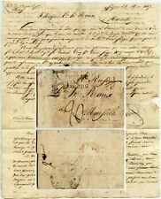 SMYRNA 1817 DISINFECTED MAIL LETTER MINIATURE to FRANCE STRASBOURG + AUTRICHE