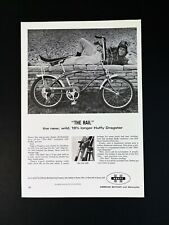 Vintage 1966 Huffy Dragster Bicycle Full Page Original Ad