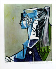 Pablo Picasso Sylvette David On Armchair Giclee Estate Signed 20 x 13