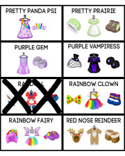 Webkinz Complete Outfits (PICK ONE) -- Virtual Online Items -- Estore Promo PSI