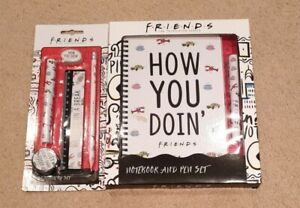 Friends TV Series Stationary Notebook & Pen Set ~ New Boxed Gift