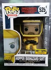 FUNKO POP STRANGER THINGS SERIES HOPPER BIOHAZARD SUIT HOT TOPIC EXCLUSIVE