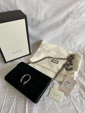 Gucci Dionysus Wallet on chain WOC Bag Tasche Schwarz Wildleder Suede Sold Out