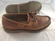 Rockport Size 9M Oil Tanned Leather Comfort Dress Boat Deck Fashion Footwear