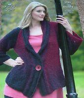 Original King Cole Misty Knitting Pattern Lady's Sweater & Jacket No 3186