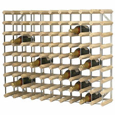 90 Bottle Traditional Pine Wood Wine Rack - Champagne Drink Holder Storage Large
