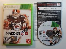 Xbox 360 : Madden NFL 12 VideoGames FREE SHIPPING!! TESTED!! NEAR CIB