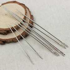 12pcs Thick Big Eye Sewing Self Threading Needles Embroidery Mending Craft AUD
