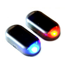 Fake Solar Car Alarm Led Light Security System Warning Theft Flash Blinking Red