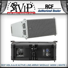 "RCF HDL 6-A-W ACTIVE LINE ARRAY MODULE 1400W Speaker Two Powerful 6"" -WHITE- NEW"