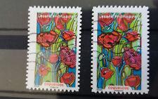 Variété du timbre de 2016 fleurs : coquelicot