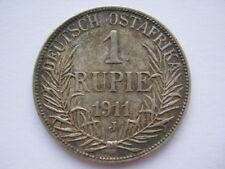 German East Africa 1911-J silver 1 Rupie GVF