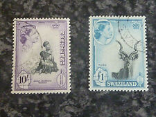 SWAZILAND POSTAGE STAMPS SG63-64 10/- & £1 VERY FINE USED