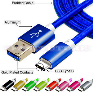 USB-C Type-C 3.1 Nylon Braided Rope Data Sync Charger Charging Cable Cord LOT