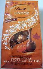 NEW LINDT LINDOR LIMITED EDITION PUMPKIN SPICE MILK CHOCOLATE TRUFFLES FREE SHIP