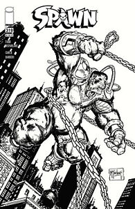 (2021) SPAWN #319 MCFARLANE & CAPULLO BLACK & WHITE VARIANT COVER!