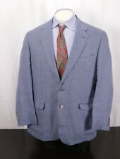 ROBERT TALBOTT CARMEL Linen Sport Coat Blazer Blue Multi Check -Men's Large