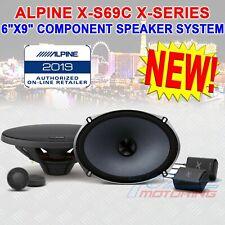 "ALPINE X-S69C 6""X9"" LOUD 360W TYPE-X COMPONENT SPEAKERS CROSSOVERS TWEETERS NEW!"
