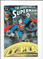The Adventures of Superman #505 DC Comics 1993 Foil Fireworks Cover NM/NM+