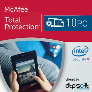 McAfee Total Protection 2021 10 PC 1 Year License Internet Security 2020 AU
