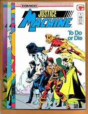 Justice Machine 7 8 9 & 10 Comico 1987 NM- to NM