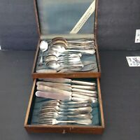 Antique 1913 Oneida Community Reliance Plated  Flatware, Exeter w/ Box