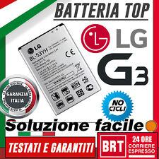 BATTERIA ORIGINALE BL-53Y per LG G3 D830 D850 D851 D855 3000mah 2017!! BRT 24H!!