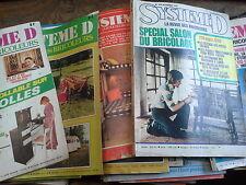 Système D Lot de 27 revues des années 70 -80  la revue des bricoleurs