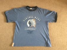 Boys blue t shirt Wild West design cotton short sleeve a roomy 10 - 11 years