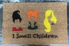 SANDERSON SISTERS Door Mat Doormat I SMELL CHILDREN Halloween Decor Hocus Pocus