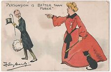 POSTCARD COMIC  Persuasion is better than force..  D Hardy