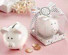 96 Li'l Saver Favor Ceramic Mini Piggy Bank in Gift Box Baby Shower Favors
